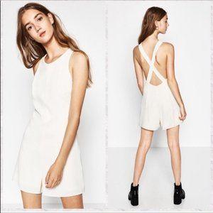 Zara Scoop Size M Neck Cross Back Mini Romper